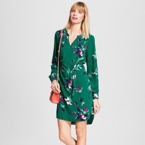 NWT! Merona Floral Print Tunic Dress with Belt